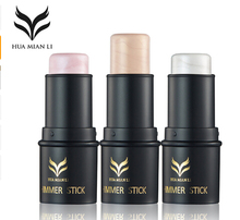 HUAMIANLI New Brand Shimmer Shine 3D Highlighter Foundation Stick Pen Naked Shimmer Contour Bronzer Concealer Cosmetics(China)