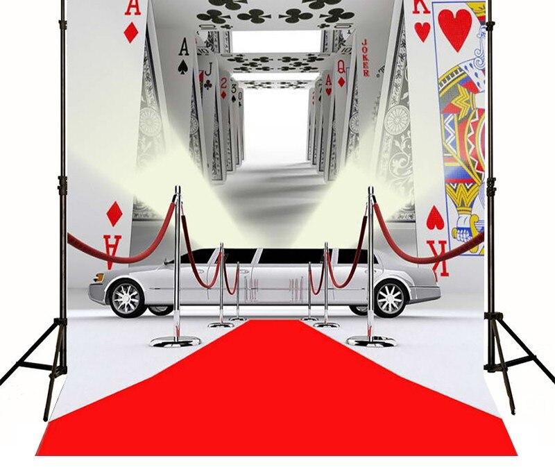 Casino Poker Red Carpet Cars Backgrounds High-grade Vinyl cloth Computer printed custom backdrop<br><br>Aliexpress