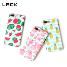 LACK Fruit Peach Phone Cases For iPhone 7 7 Plus Case Cool Summer Lovely Watermelon Pineapple Soft Cover For iphone 7 Fundas