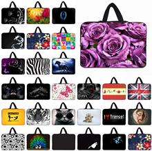 "Flowers Pattern 14"" 14.1"" 14.4"" Neoprene Laptop Bag Notebook Pouch Sleeve Cover Computer Case For HP Dell Acer Lenovo Women Gift"