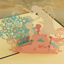 (10 piece/lot)Factory Direct Sale Thanksgiving Mother's Day 3D Stereo Creative Greeting Cards Handmade Kind Mother Gift Cards