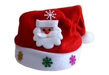 New Santa Velvet Hat Christmas Hat Party Red And White Cap for Santa Claus Costume New Christmas Decoration