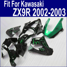 Motorcycle kits For Kawasaki Ninja fairings Zx9r 2003 2002 02 03 ( Green flames ) Fairing kit Customize free xl67