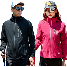 Top Spring autumn men Women jacket outdoors Elasticity coat men Windbreaker fashion male tourism waterproof jacket sportswear(China)
