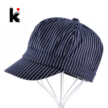 Children Newsboy Caps Boys Autumn And Winter Baseball Cap Girls 100% Cotton Striped Snapback Hats For kids Soft Infant Gorros(China)