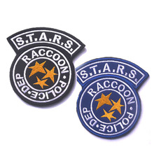 S.T.A.R.S. Resident Evil Raccoon City Embroidery the tactical military patches badges for clothes clothing HOOK/LOOP