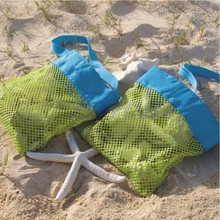 Free shipping by DHL wholesale shell collecting tote Monogrammed Mesh Beach Shell Bag Beach seashell Bag Children Mesh Shell bag