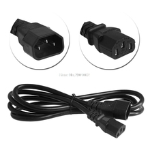 IEC 320 3-Pin C14 Male To C13 Female Main Power Extension Cord Lead Cable 1.8/3M -B119