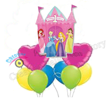 36inch 9pcs/lot Princess Castle 1st Birthday Party Decoration Mylar Balloon Kids Toys Princess Helium Balloon(China)