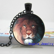 NS-00340 New Fashion White Tiger Necklace Leopard Pendant Gifts For Men Glass Photo Pendant Necklace HZ1