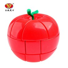 YongJun YJ 3x3x3 Red Apple Style Strange-shape Puzzles Magic Cubes For Kids Child Smooth Educational Toys Speed Cubo Magico(China)