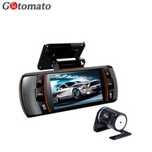 "Gotomato Dual Lens 2.7"" A1 Car DVR 2 Camera G-Sensor Full HD 1080P 30FPS External IR Rear Camera 140 Degree Wide Angle(China)"