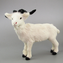 large 26x21cm white sheep toy plastic& furs simulation goat model home decoration Xmas gift w5807