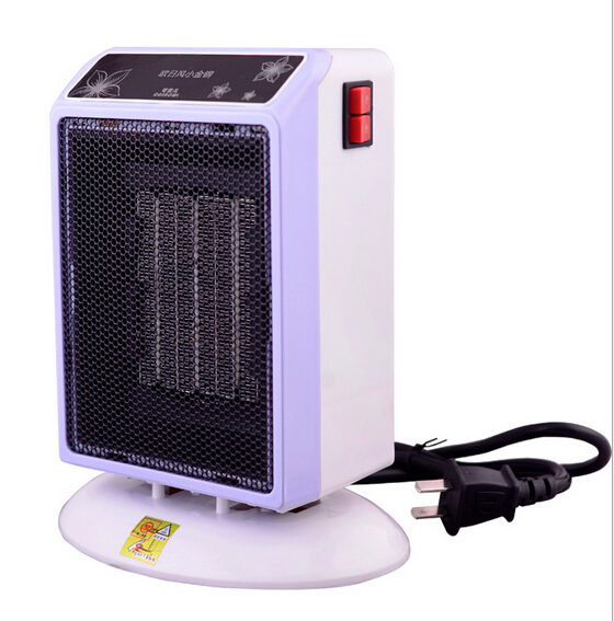 220 Voltage mini PTC ceramic  fan heater for student 500W/1000W second gear with 360 degree anti fell switch 19.2cX17X12.5cm<br>