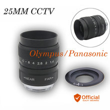 Buy 25mm F1.4 CCTV TV Movie lens+C Mount Panasonic Olympus Micro C-m4/3 EP1 EP2 EP3 EP5 EPL1 EPL2 EPL3 EPL5 EPM1 OM-D EM5 EM10 for $17.91 in AliExpress store