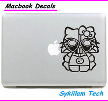 Halloween Mask for Hello Kitty White for apple Sticker Macbook Skin Air 11 13 Pro 13 15 17 Retina Decal Laptop Car Vinyl Logo