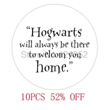 "HP ""Hogwarts Will Be There To Welcome You Home"" glass cabochon necklace keyring bookmark cufflink earring(China)"