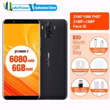 "Ulefone Power 3 6.0""18:9 Full Screen Smartphone 6080mAh 6GB 64GB MT6763 Octa Core Face ID Four Camera21MP Android 7.1 phone(China)"