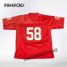Retro star #58 Derrick Thomas Embroidered Throwback Football Jersey(China)