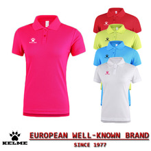 KELME Official Spain Golf POLO Shirts Women 2016 Dry Fit Solid Golf Horse Tops Tee Polo Football Soccer Camisa Polo 28(China)