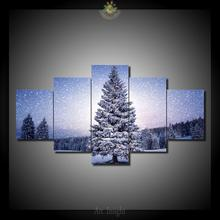 HD Printed 5 Pieces/set Christmas tree Modern Wall Art Paintings Prints on Canvas Picture for Living Room Home decoration