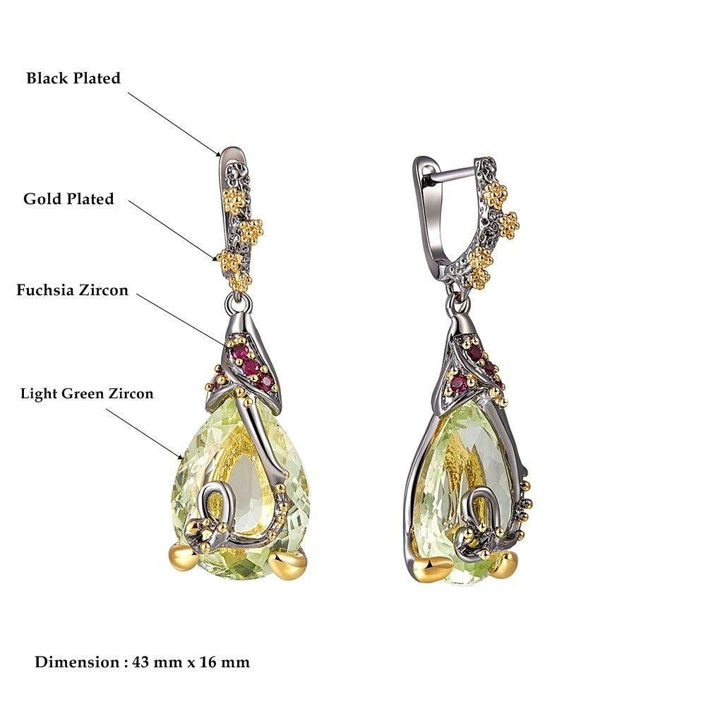 WE3876 dimension vintage zirconia earrings drop earings gothic jewelry (1)