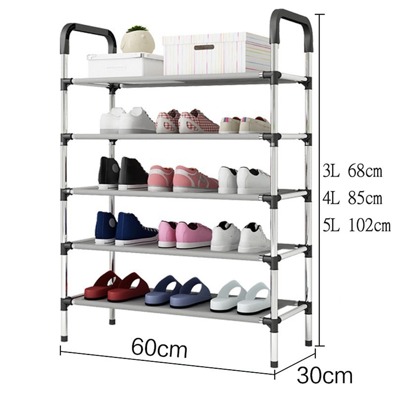 Rack Shoe-Organizer Assembly Home-Furniture Space-Saver Black DIY Russia Korea title=