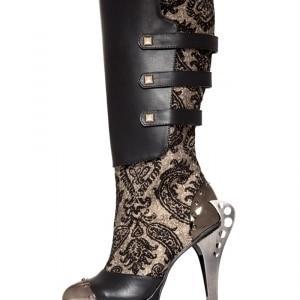 Hades Footwear FRANCESBLK-11-Adult Frances Boots Black - Size 11 M