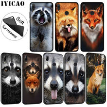 IYICAO Animal Raccoon Fox Soft Silicone Phone Case for Huawei P30 P20 Pro P10 P9 P8 Lite Mini 2017 2016 2015 P Smart 2019 Cover(China)