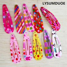 LYSUMDUOE Baby Headband Flower Hairpin BB Clip Bow Barrette Children Hairgrip Floral Hairpins Candy Jewelry Hair Accessories