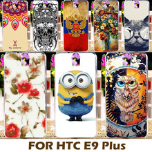 Top Selling Painting Design Hard Plastic Case For HTC One E9 E9+ E9 PLUS 5.5 Inch Cell Phone Cover Shell Protective Coque