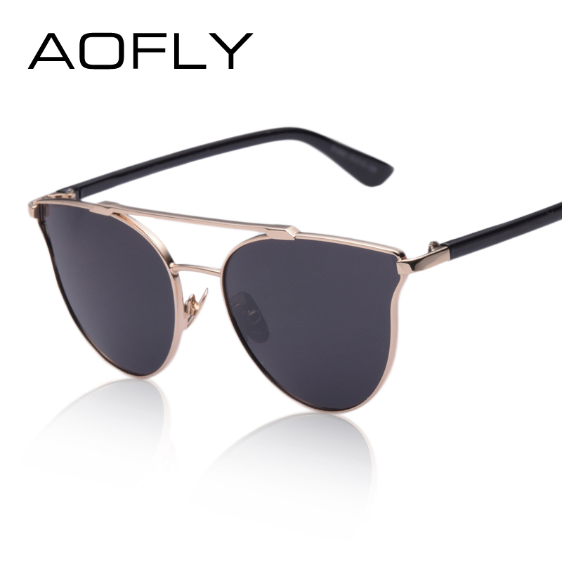 AOFLY Vintage Metal Frame Sunglasses Women Brand New Designer Cat Eye Glasses 2016 Fashion Women Decoration Men Classic Eyewear<br><br>Aliexpress