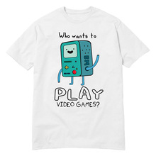 USAprint Harajuku Men T Shirt Adventure Time Play Video Games Funny t shirt cotton leisure short-sleeved euro size O neck tshirt(China)