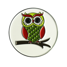 Owl Golf Ball Marker Lot of 10, Golf Accessories Pitch Marking Tool, Soft Enamel Processing, Fit Any Magnetic Hat Clips