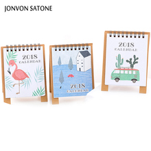 Jonvon Satone 2018 Calendar Mini notebook Lovely Creative day planner Cartoon notebooks for school diary notebook stationery(China)