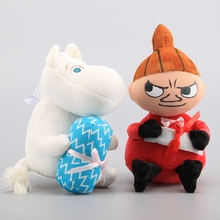 High Quality Moominvally Hippo Moomin Holding Candy Plush Toy Little My Stuffed Dolls 2 Styles 18-20 CM Children Birthday Gift