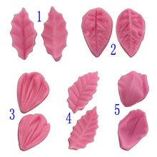 Diy Resin Silicone Cake Mold Small Model Design Clip Fondant Cake Decoration Tools Holly Leaf Mold Clay Kitchen Accessories
