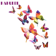 KAKUDER Top Grand Magnet 3D Butterfly Wall Sticker Decals Home Decor Poster Kids Rooms Adhesive Wall Art Stickers Fridge Decor
