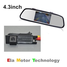 Night Vision Color CCD Car Rear View Camera Parking Camera for Alfa Romeo Brera / Spider with 4.3Inch Rear View Mirror Monitor(China)