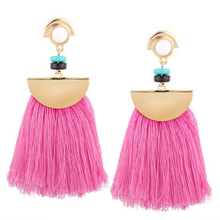 Exaggerate Women Ethnic Vintage Earrings 2017 Hot Long Fringe Earrings Handmade Chinese Jewelry Tassel Earrings