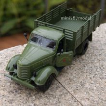 Gift for boy 1:36 19cm classic liberation truck car delicate military vehicle alloy model acousto-optic pull back toy collection(China)