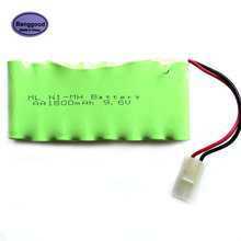 Banggood 9.6V 1800mAh 8x AA Ni-MH RC Rechargeable Battery Pack for Helicopter Robot Car Toys w/ Tamiya Connector Plug(China)