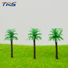 3cm scale model seaside palm trees Miniature Model Trees For MODEL Landscape Train Railway Park Scenery(China)