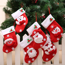 santa claus snowman bear stocking ornaments christmas tree decoration for home party decor silverware holder Xmas supplies
