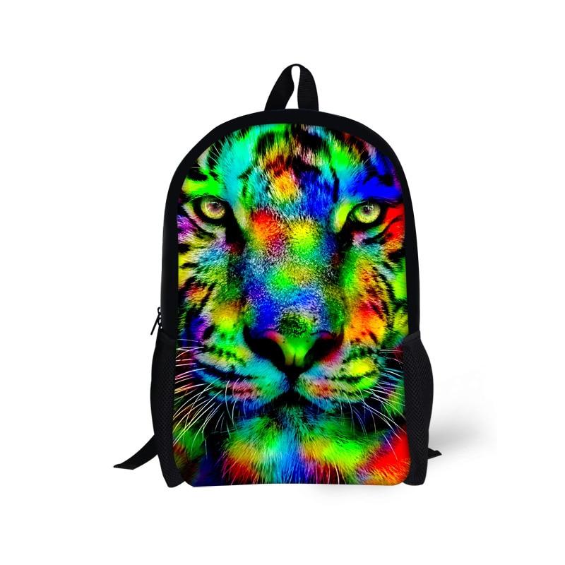 Cool 16 inch Children Backpacks 3D Animal Tiger Head Printing Backpack for Kids Tide Boys School Bag for High School Student<br><br>Aliexpress