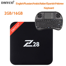 Hot Z28 Android 7.1 TV Box H.265 Rockchip RK3328 64-bit Quad Core 1GB/8GB 2GB/16GB 4Kx2K USB 3.0 2.4G WiFi 4K Smart Media player(China)