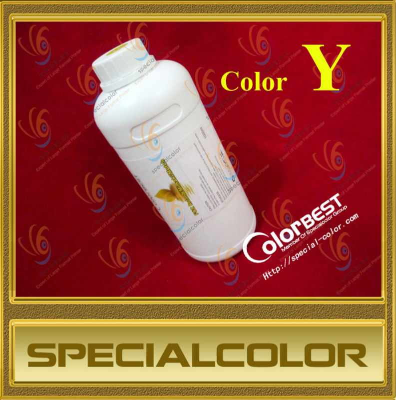 Good quality 1000ml Sublimation ink (bulk) in bottle for Roland/Mimaki/Mutoh/Epson Printer color Y<br>