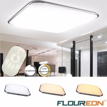 Floureon 24W LED Ceiling Light,2.4G Wireless Remote Control Dimmable 110~265V LED Ceiling Lamp 3000K~6500K Adjustable 450x450mm(China)