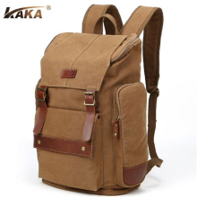 KAKA Europe United States Men Canvas Backpack Vintage Large Capacity Travel Bagpack 14 -15 Inches Casual Computer Rucksack B433
