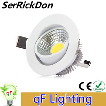 1pcs Dimmable LED Downlight 9W 12W 15W Spot LED DownLight Dimming 110-240V LED Spot Recessed Downlight White hous